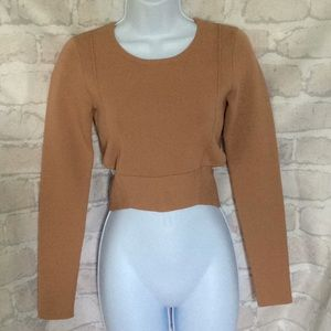 🌈 Kendall &Kylie Compact Long Sleeve Crop Top